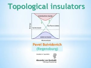 Topological insulators Pavel Buividovich Regensburg Hall effect Classical