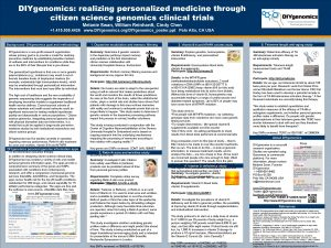 DIYgenomics realizing personalized medicine through citizen science genomics