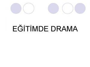 ETMDE DRAMA DRAMA NEDR l Drama bir dnceyi