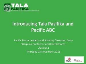 Introducing Tala Pasifika and Pacific ABC Pacific Nurse