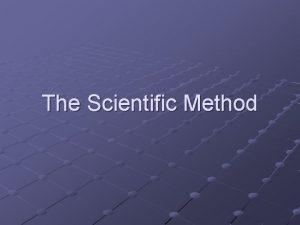 The Scientific Method Brain Pop Scientific Method https