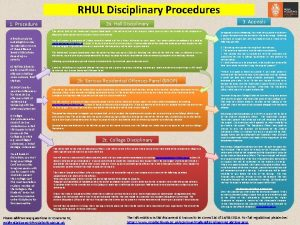 RHUL Disciplinary Procedures 2 a Hall Disciplinary 1