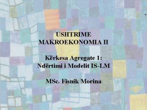USHTRIME MAKROEKONOMIA II Krkesa Agregate 1 Ndrtimi i