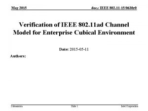 May 2015 doc IEEE 802 11 150630 r
