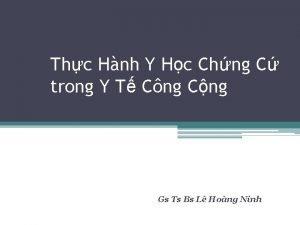 Thc Hnh Y Hc Chng C trong Y