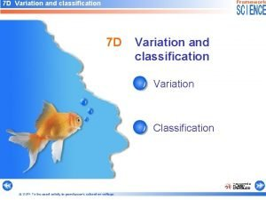 7 D Variation and classification Variation Classification OUP