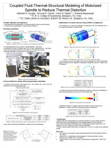 Coupled FluidThermalStructural Modeling of Motorized Spindle to Reduce