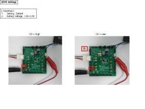 EVM Setting Condition 1 Setting Default 2 Battery