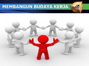 MEMBANGUN BUDAYA KERJA 1 Aturan Main Untuk Peserta