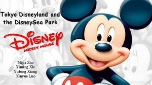 Tokyo Disneyland the Disney Sea Park Mijia Zuo