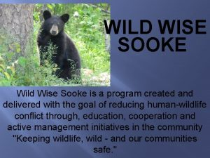 WILD WISE SOOKE Wild Wise Sooke is a