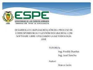 DESARROLLO E IMPLEMENTACIN DEL PROCESO DE CORRESPONDENCIA Y