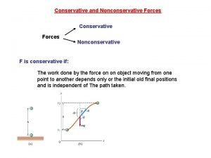 Conservative and Nonconservative Forces Conservative Forces Nonconservative F