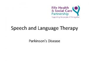 Speech and Language Therapy Parkinsons Disease Parkinsons Disease