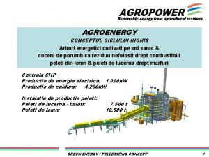 Renewable energy from agricultural residues AGROENERGY CONCEPTUL CICLULUI