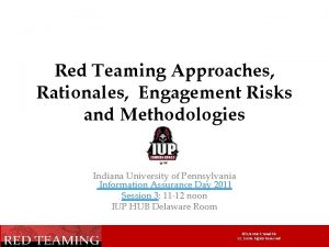 Red Teaming Approaches Rationales Engagement Risks and Methodologies