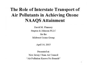 The Role of Interstate Transport of Air Pollutants