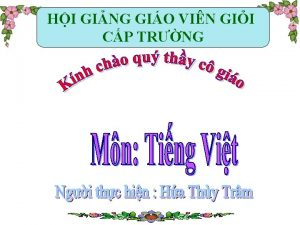 HI GING GIO VIN GII CP TRNG Th