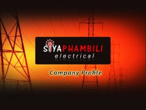 About Us Type of firm Electrical Contractor Activities