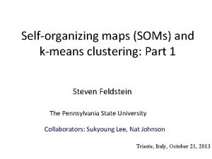 Selforganizing maps SOMs and kmeans clustering Part 1