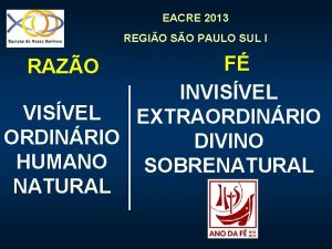 EACRE 2013 REGIO SO PAULO SUL I F