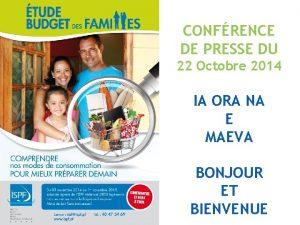 CONFRENCE DE PRESSE DU 22 Octobre 2014 IA