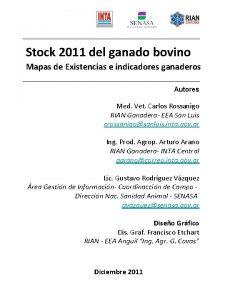 Stock 2011 del ganado bovino Mapas de Existencias