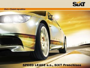 Sixt v esk republice SPEED LEASE a s