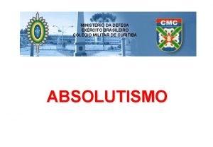 MINISTRIO DA DEFESA EXRCITO BRASILEIRO COLGIO MILITAR DE