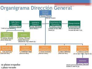 Organigrama Direccin General Director General Teresa Pin Director