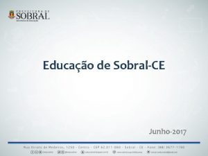 Educao de SobralCE Junho2017 Informaes gerais de Sobral