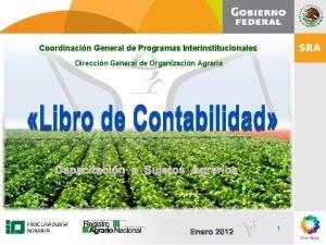 Coordinacin General de Programas Interinstitucionales Direccin General de
