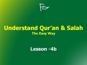 Understand Quran Salah The Easy Way Lesson 4