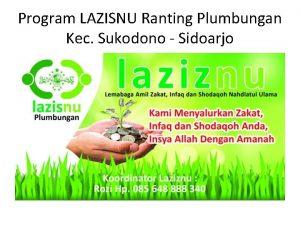 Program LAZISNU Ranting Plumbungan Kec Sukodono Sidoarjo Launching