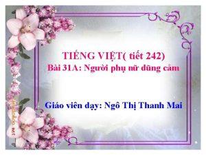 TING VIT tit 242 Bi 31 A Ngi