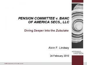 PENSION COMMITTEE v BANC OF AMERICA SECS LLC