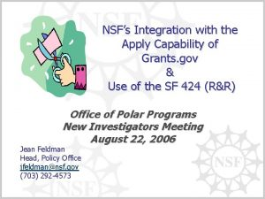 NSFs Integration with the Apply Capability of Grants