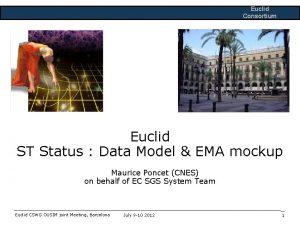 Euclid Consortium Euclid ST Status Data Model EMA