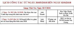 LCH CNG TC T NGY 30052018 N NGY