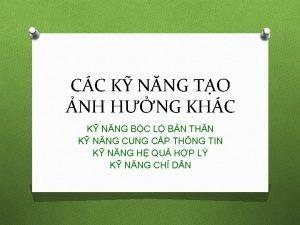 CC K NNG TO NH HNG KHC K