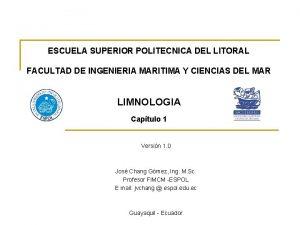 ESCUELA SUPERIOR POLITECNICA DEL LITORAL FACULTAD DE INGENIERIA