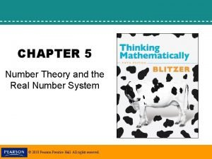 CHAPTER 5 Number Theory and the Real Number