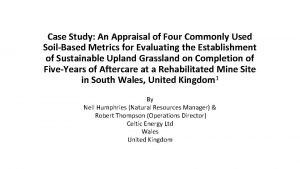 Case Study An Appraisal of Four Commonly Used