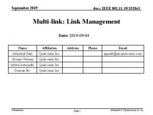 September 2019 doc IEEE 802 11 191528 r