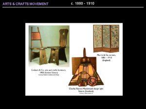ARTS CRAFTS MOVEMENT c 1880 1910 ARTS CRAFTS