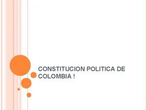 CONSTITUCION POLITICA DE COLOMBIA TITULO IX DE LAS