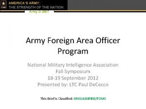AMERICAS ARMY THE STRENGTH OF THE NATION Army