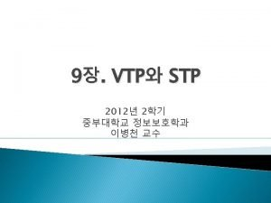 VTP VTP Version VTP Mode VTP v 1