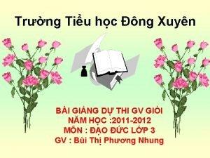 Trng Tiu hc ng Xuyn BI GING D