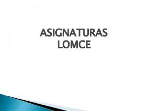 ASIGNATURAS LOMCE 1 ESO MATERIAS Lingua galega e